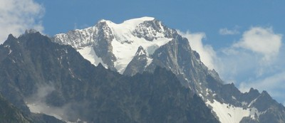 snow on the Mont Blanc top